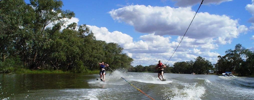 Skiing on the Barwon River